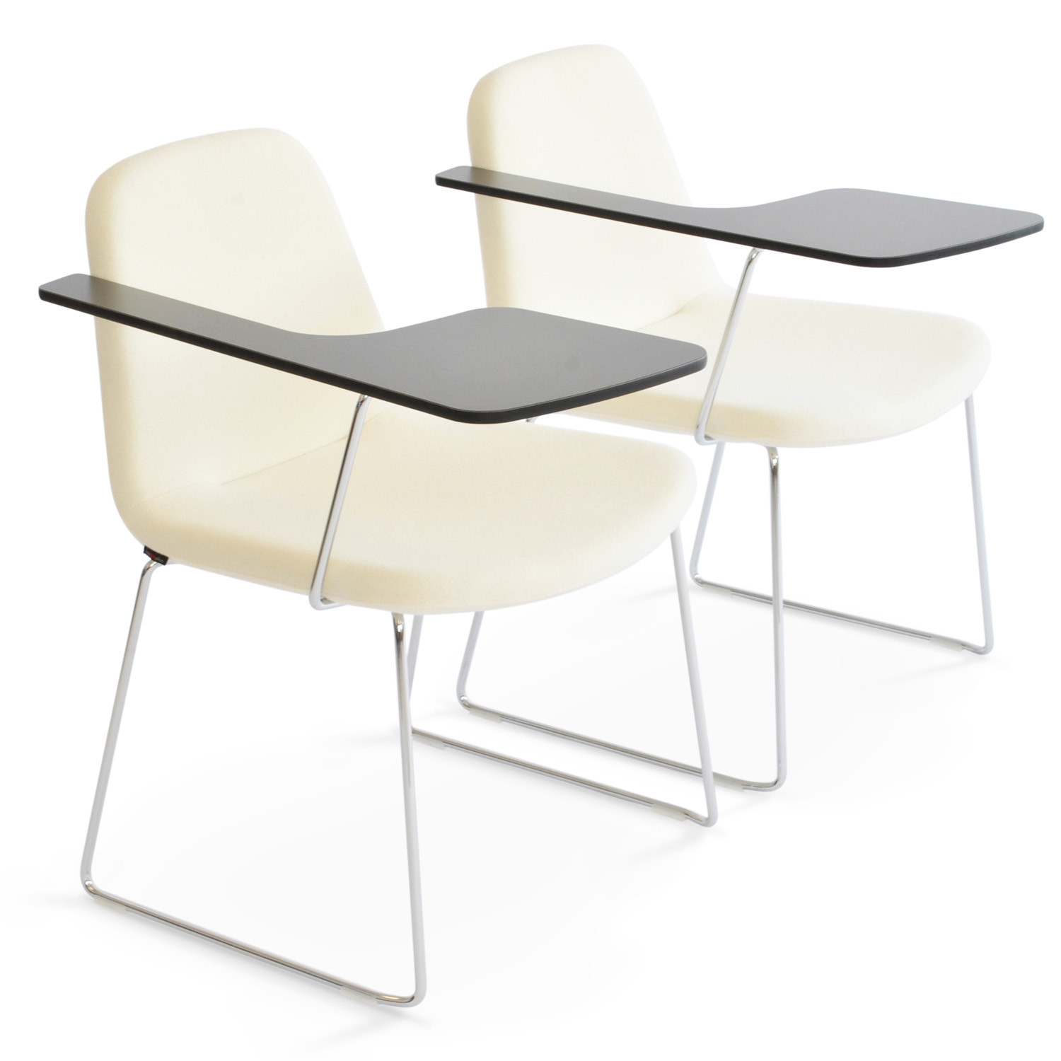 HM58d Skid Base Chairs with Writing Tablet