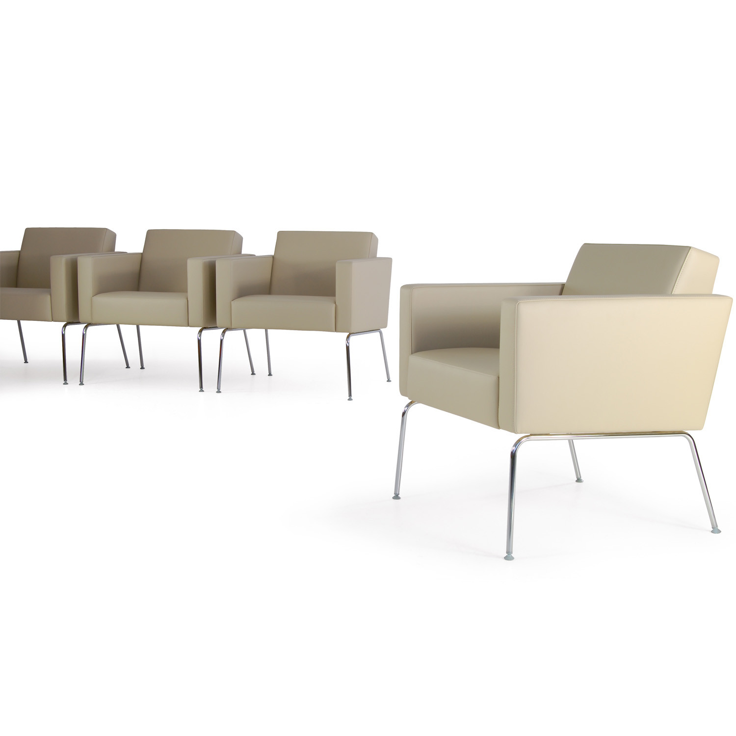 HM66 Four-Legged Upholstered Armchairs
