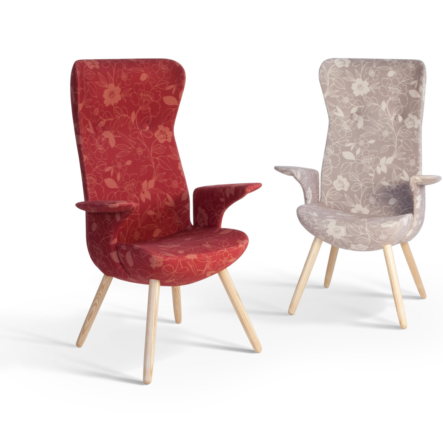 HM82 Armchairs is available in a wide range of fabrics