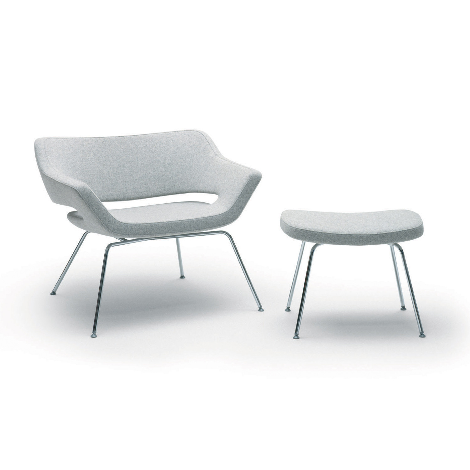 Hm85 Armchair and Foot Stool
