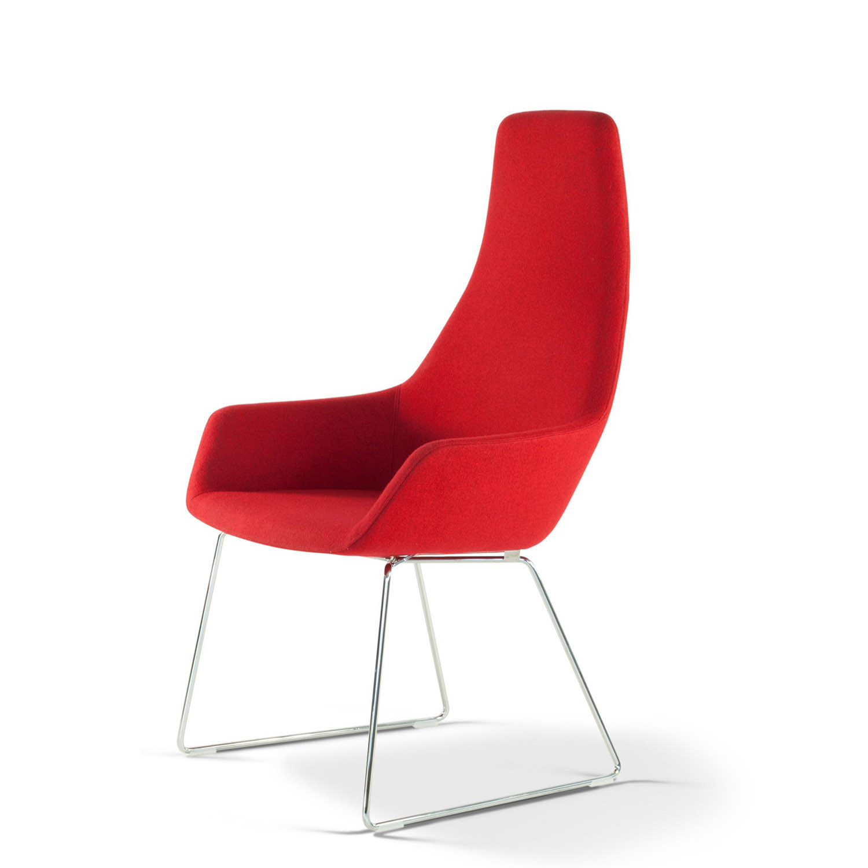 Hm86 Lounge Armchair Sledbase