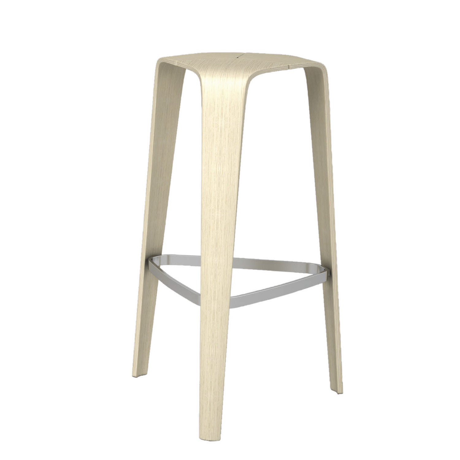 Hoc Bar Stool available in molded beech or oak wood