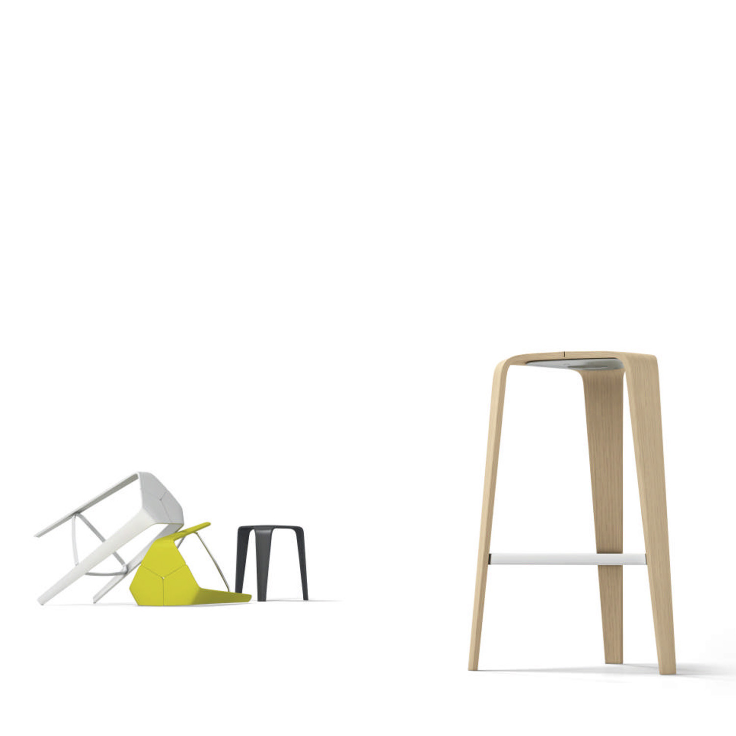 Hoc Stool Range is available in two heights