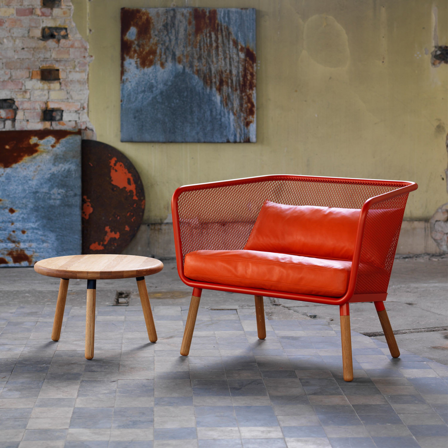 Honken Coffee Table with Armchair by Bla Station