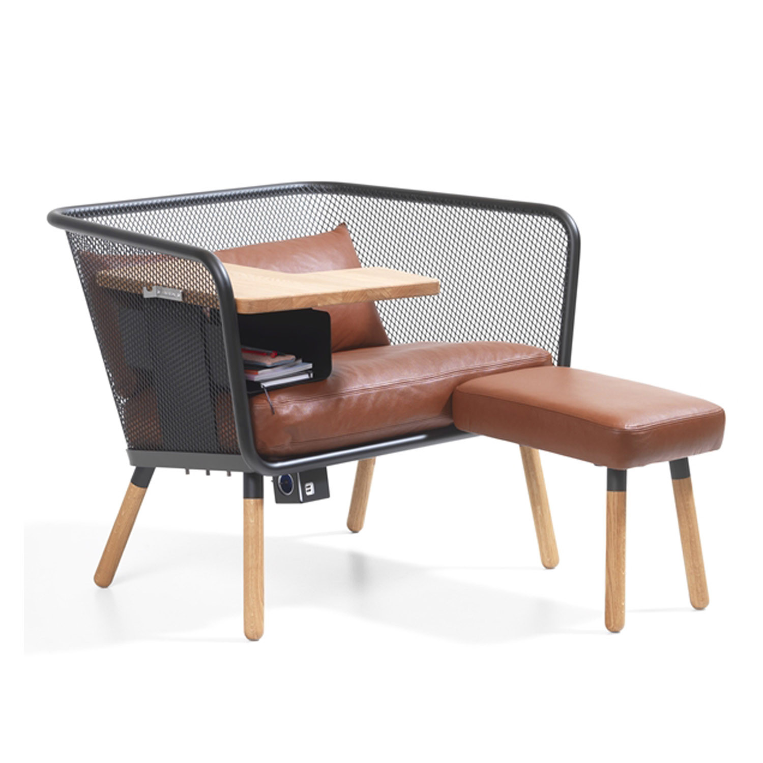 Honken Workstation with Ottoman