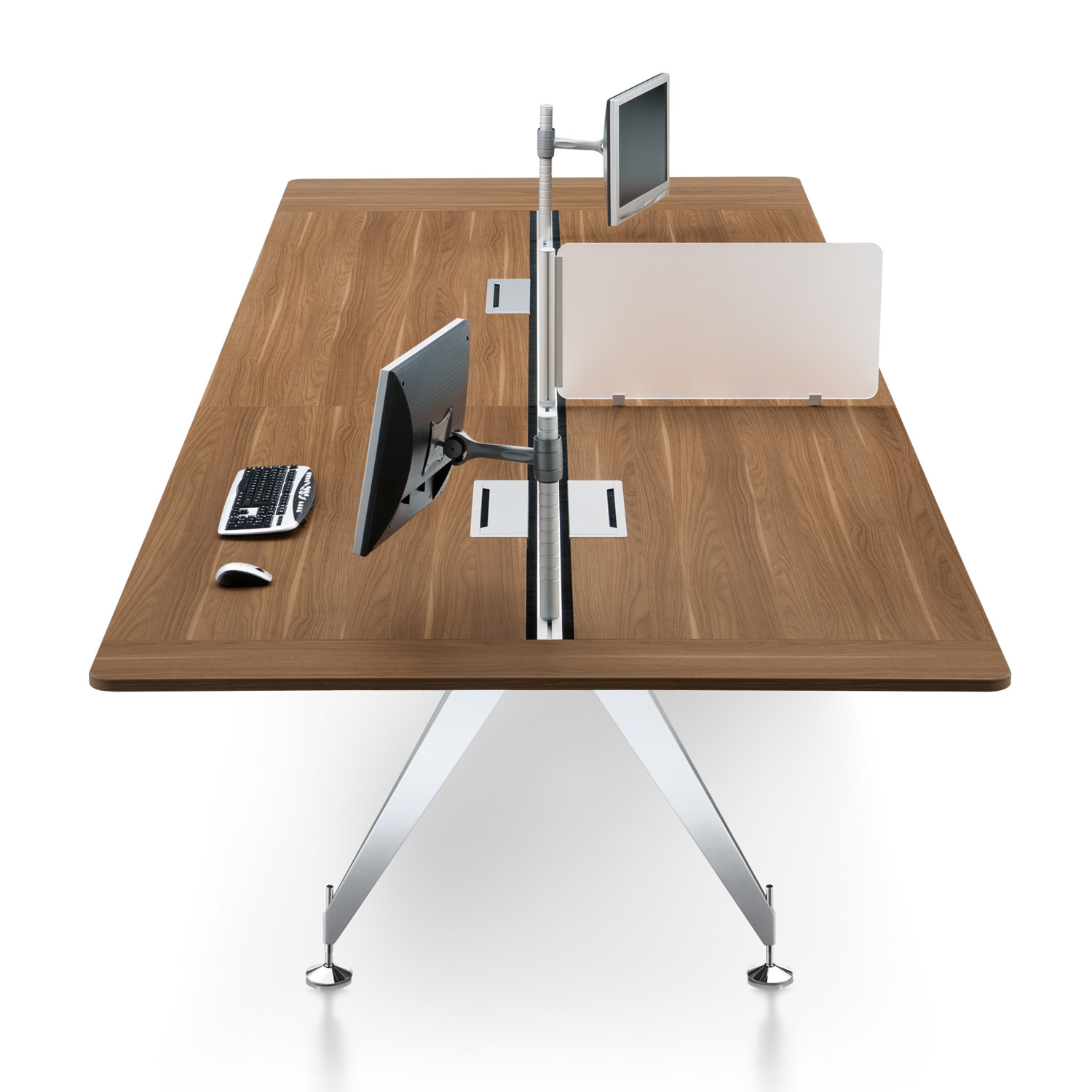 Invitation Desk Bench with screen divider