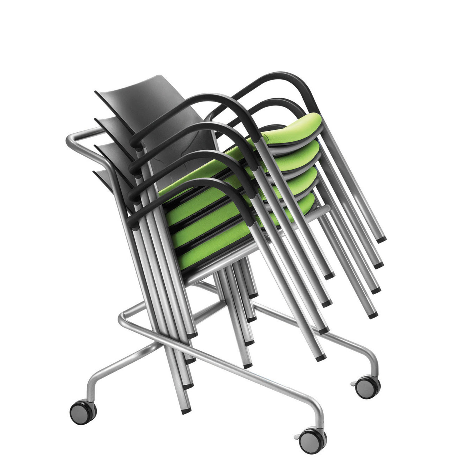 Connection IS Stacking Chairs on Trolley