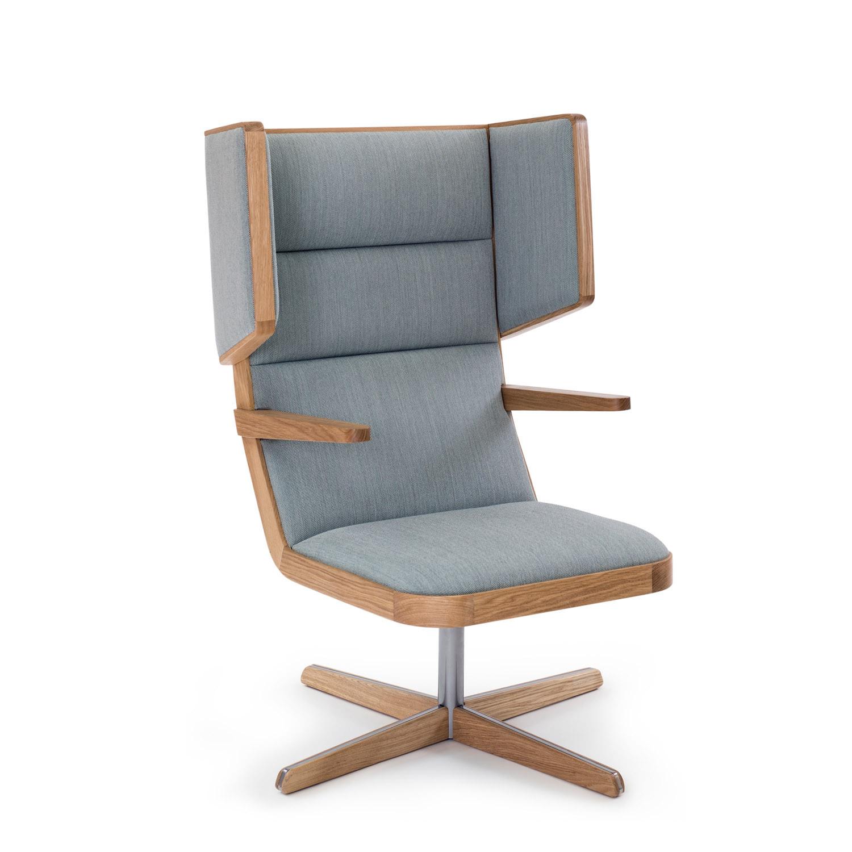 Jentle Lounge Armchair 4-Star Swivel Base