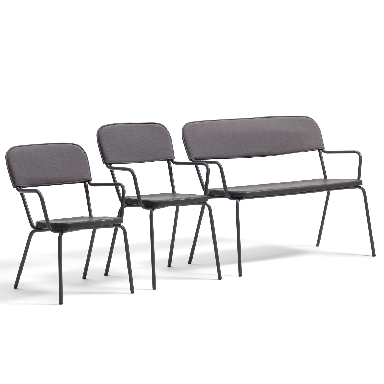 Kaffe Padded Bench with Chairs O12