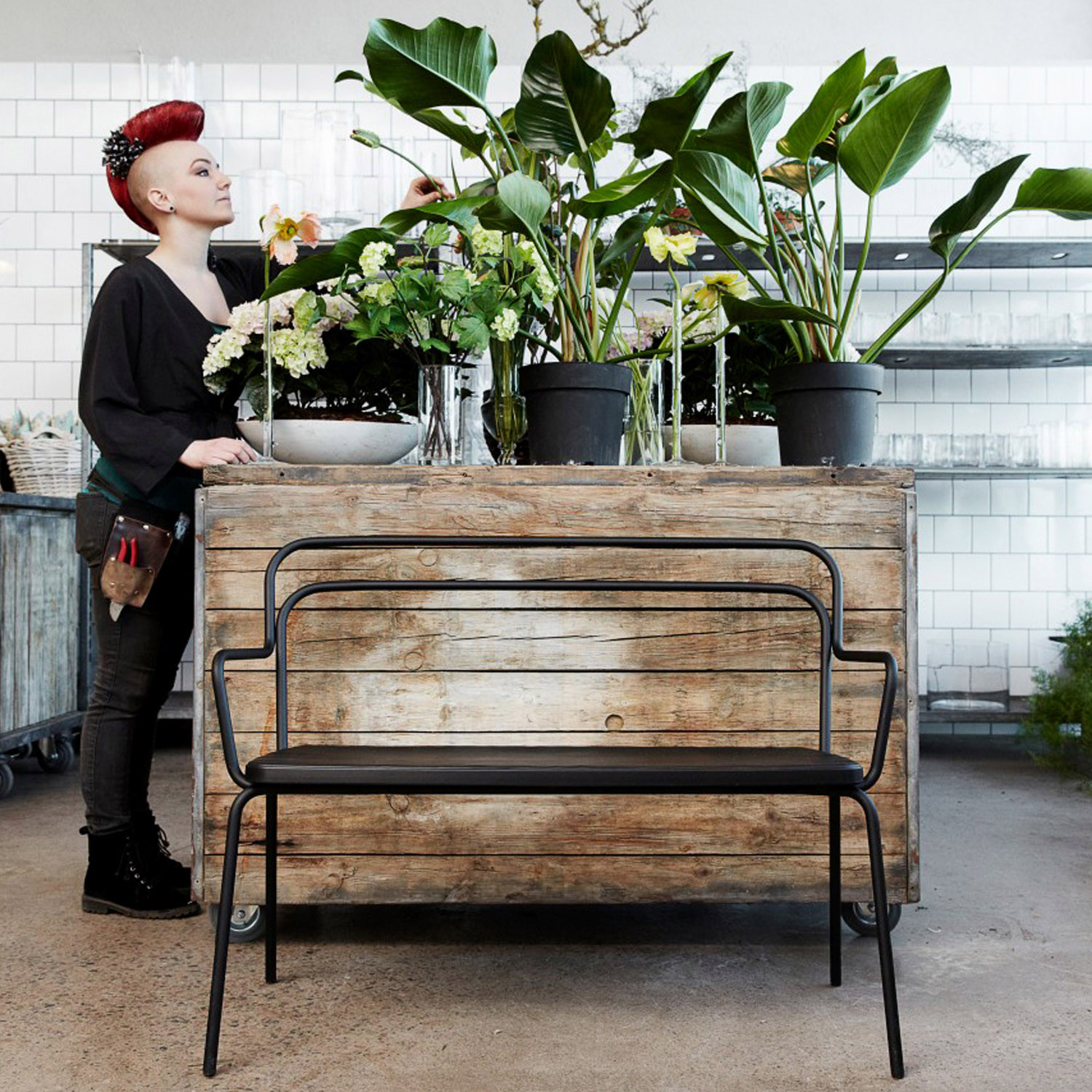 Kaffe Garden Bench O12 by Bla Station