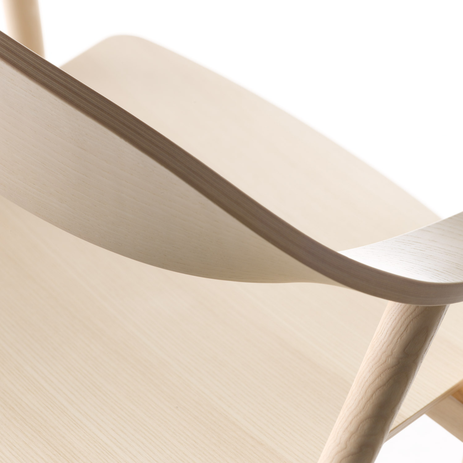 Karm Armchair Steam Bent Plywood Detail