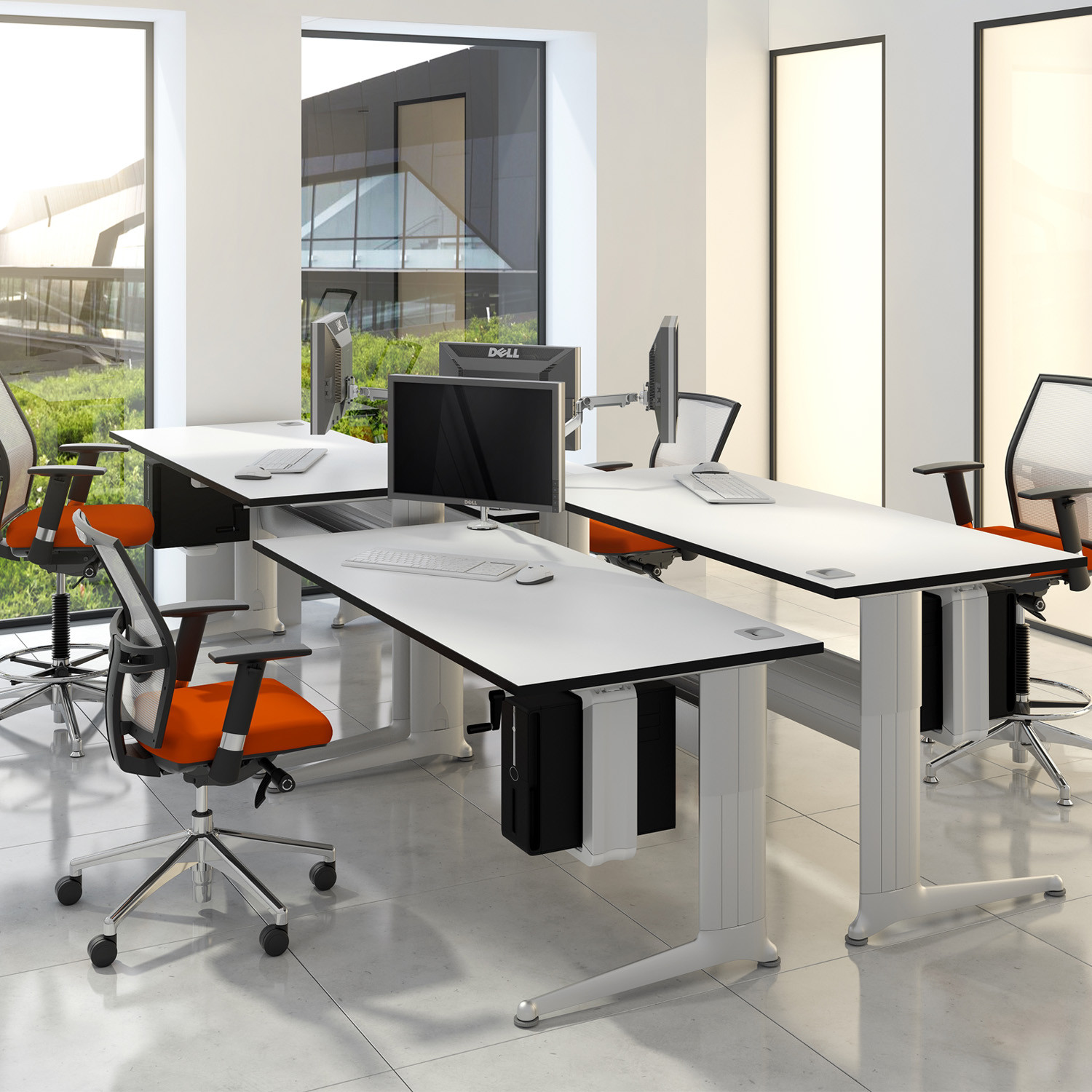 Kassini Individual Height Adjustable Desks