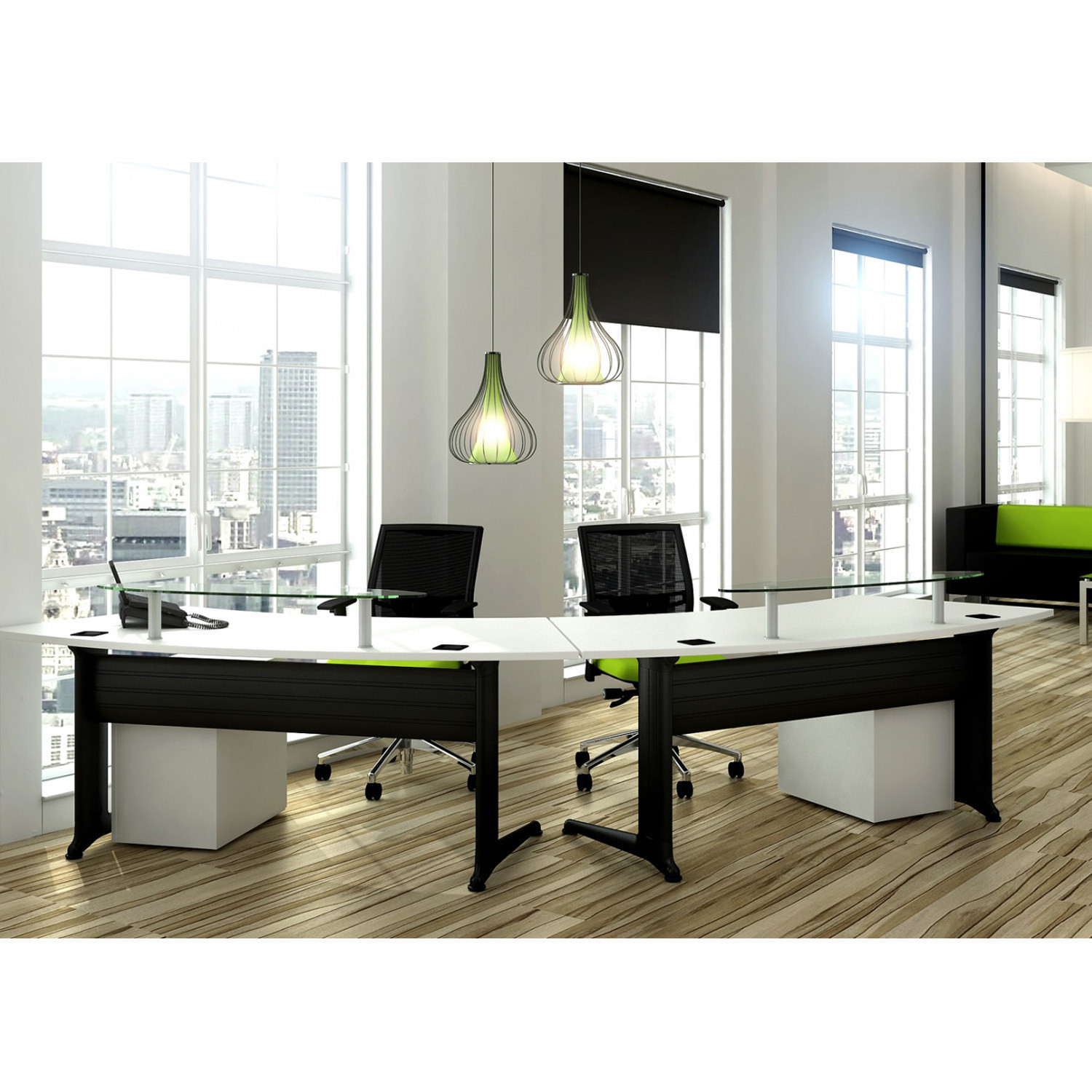 Kassini Dual Reception Desk