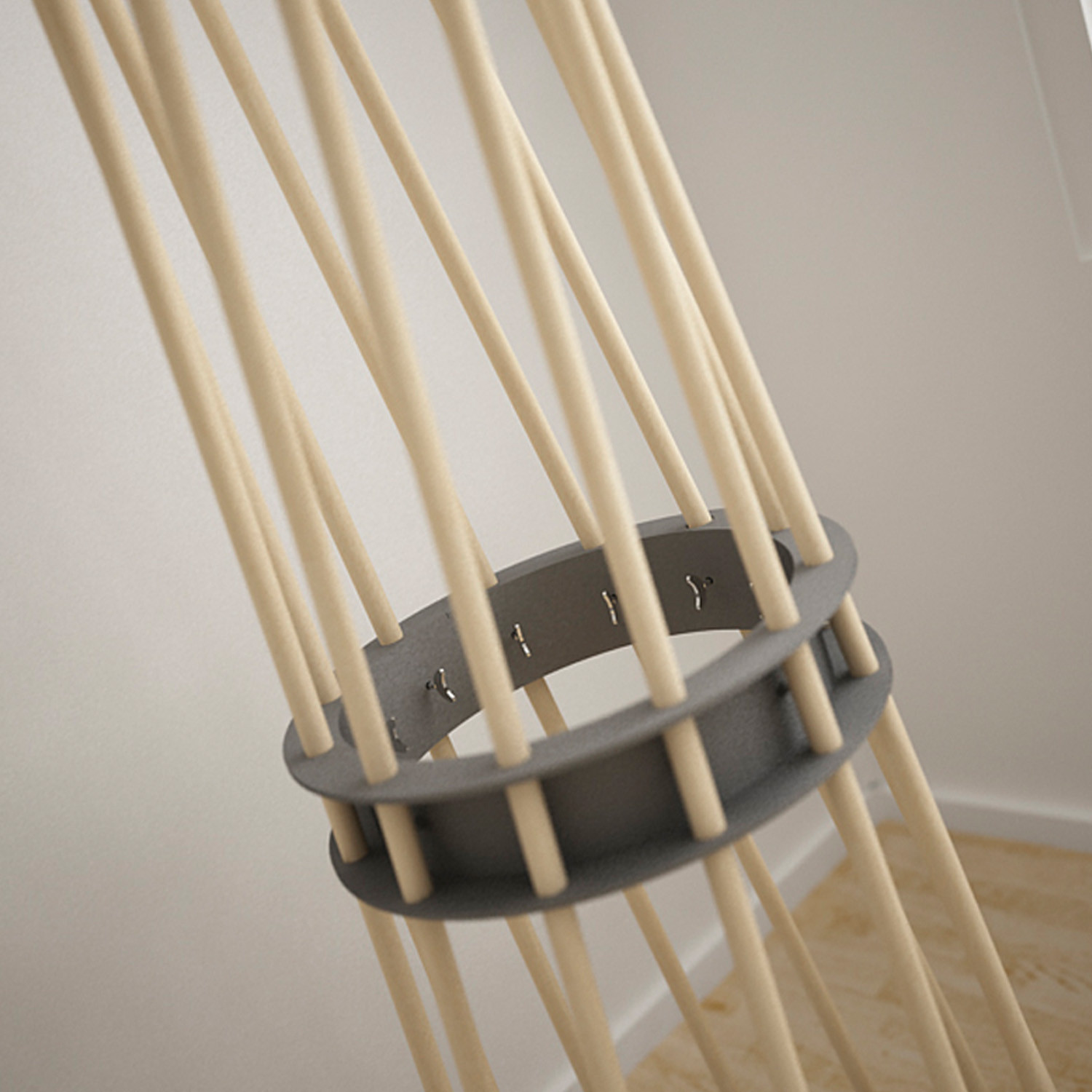 Ker Coat Stand With Grey Ring