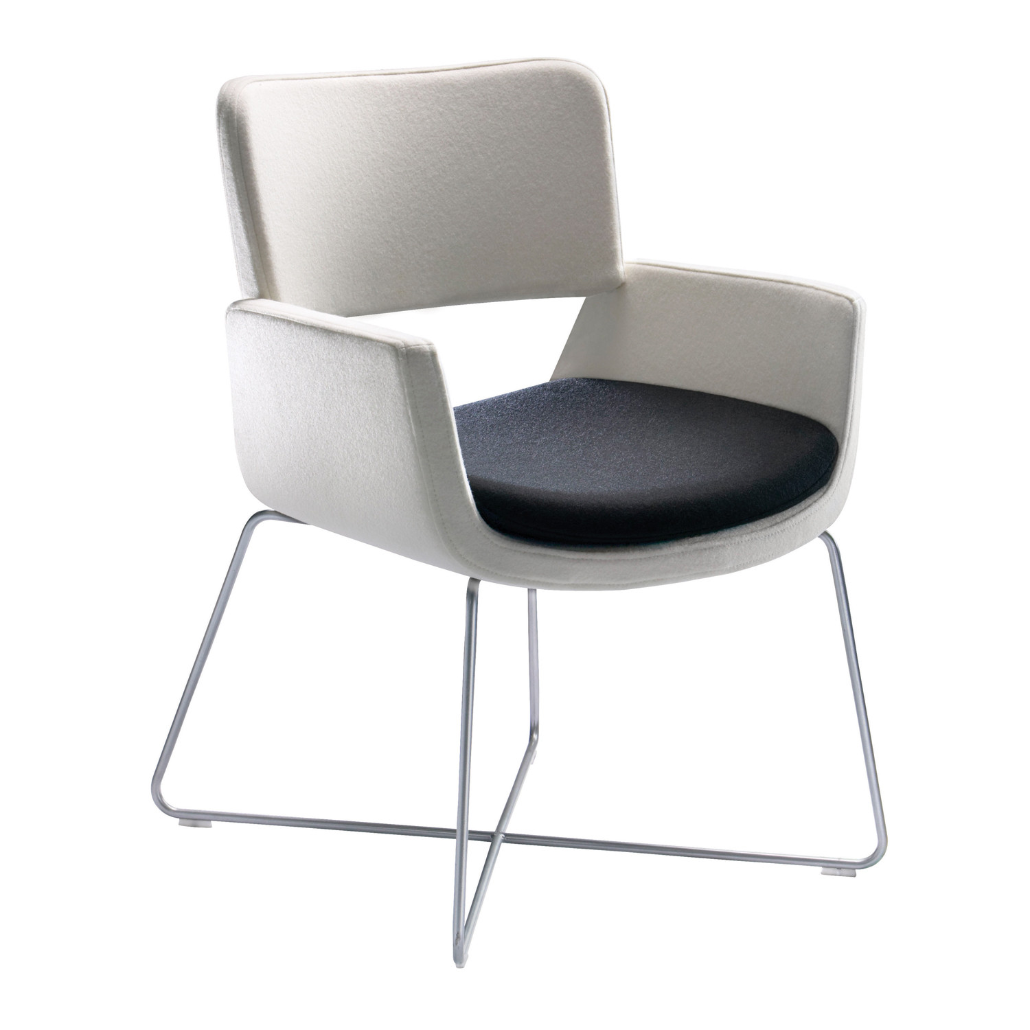 Korus Lounge Armchair with Wire Base