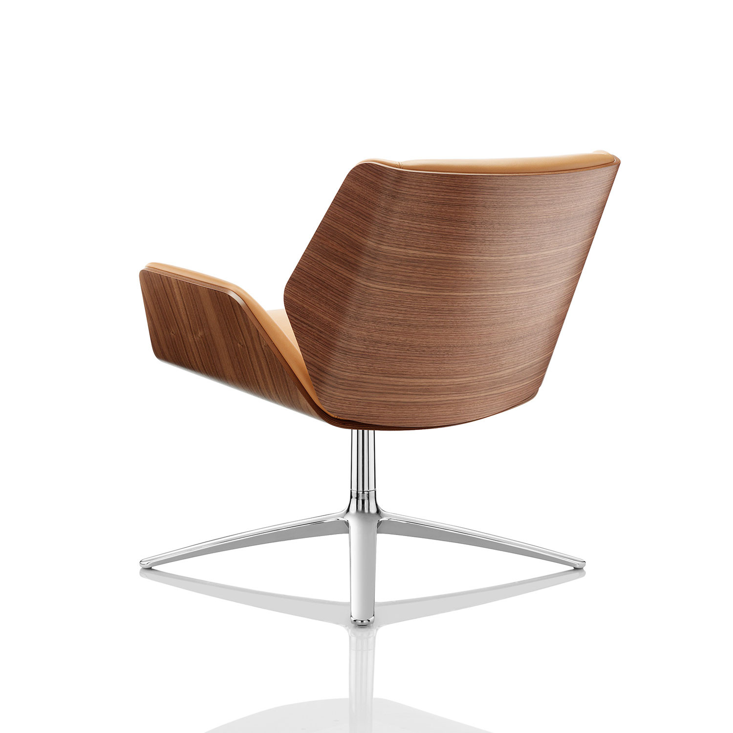 Kruze Lounge Chair With Veneered Back