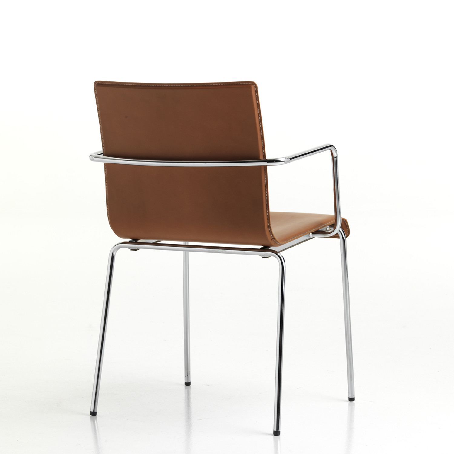 Kuadra XL Leather Chair by Pedrali