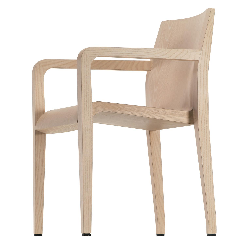 Laleggera Armchair in Whitened Oak Wood