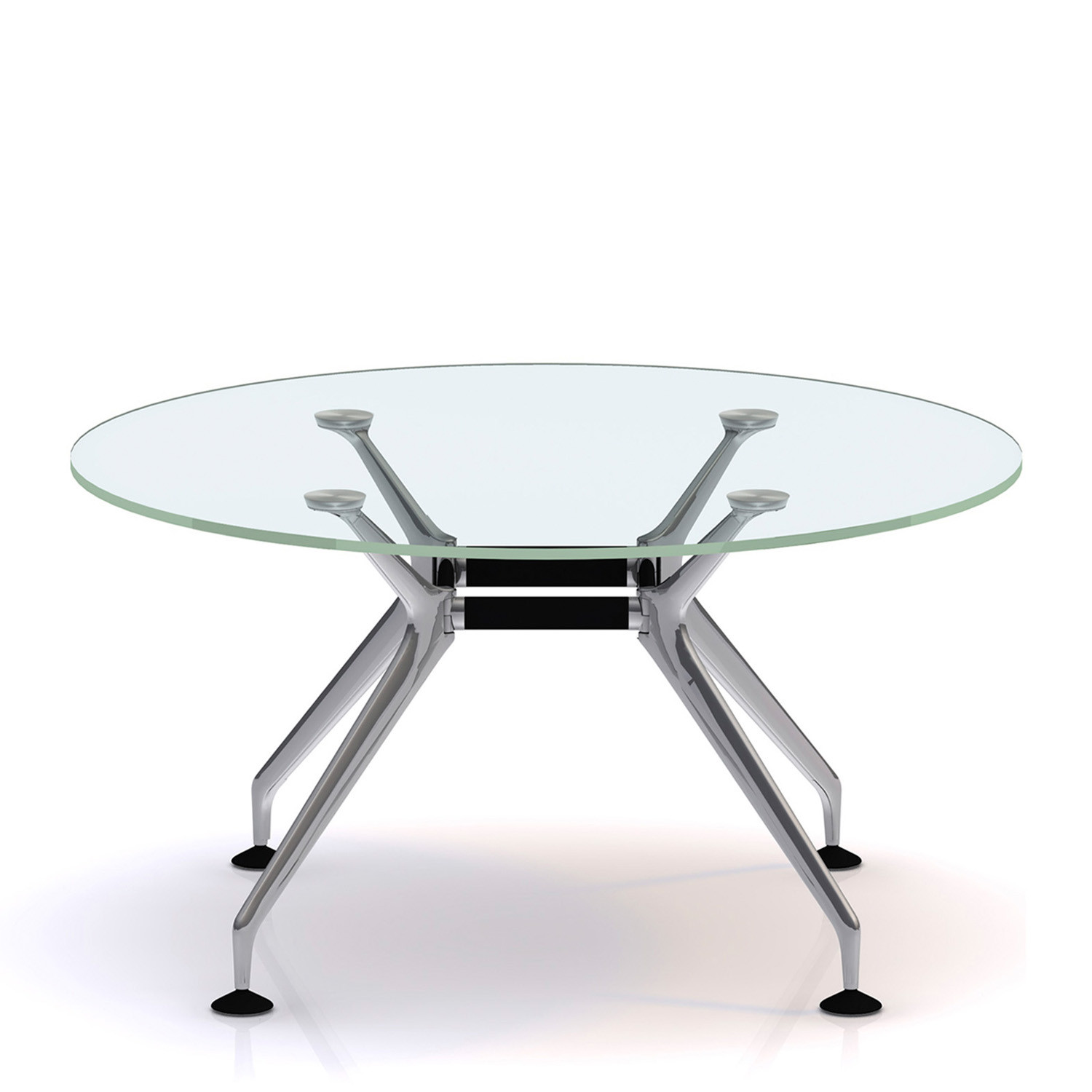 Lano Round Glass Meeting Table by Orangebox