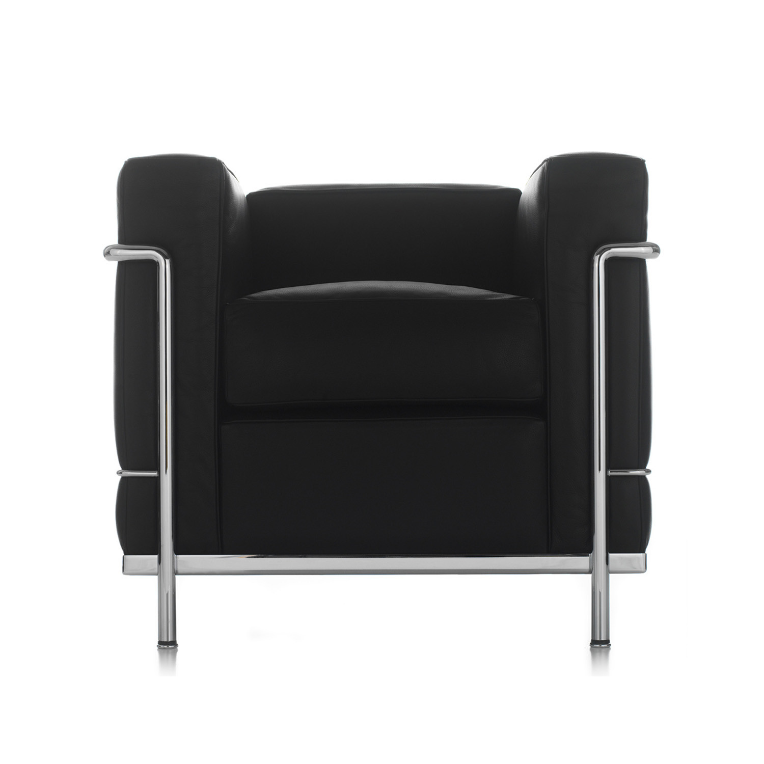 LC2 Armchair Front Black
