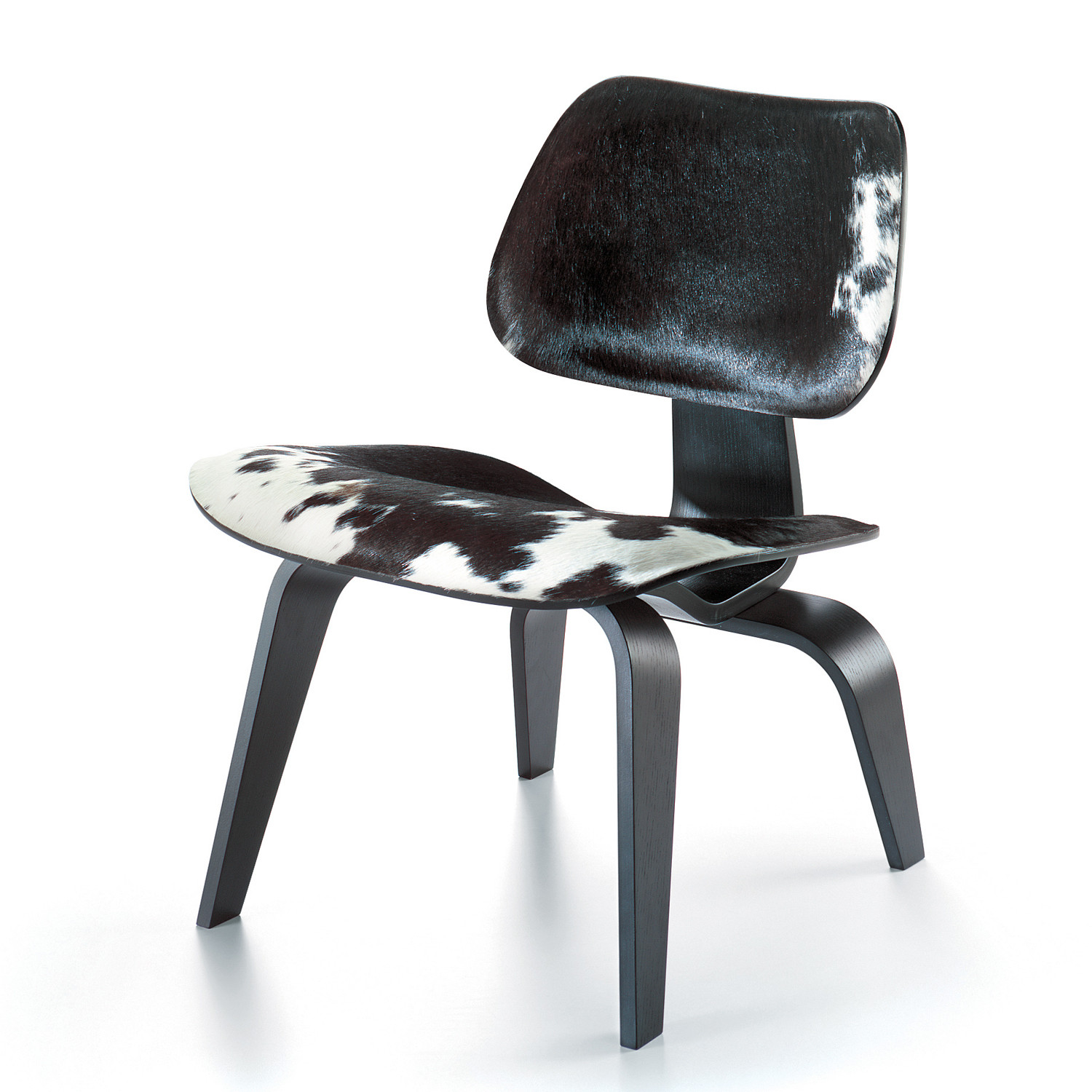 Plywood Group LCW Chair Upholstered in Cow Hide
