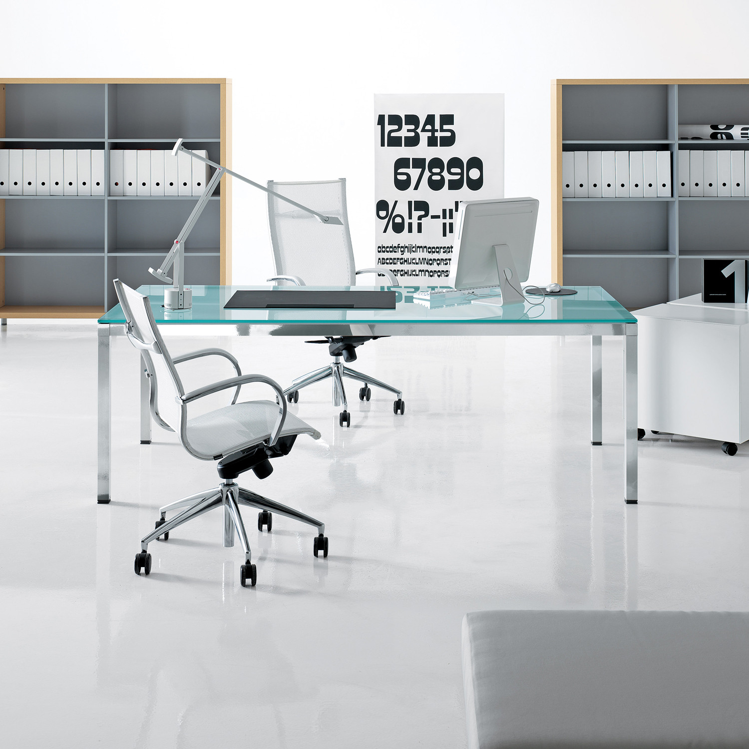 Link Executive Glass Desk