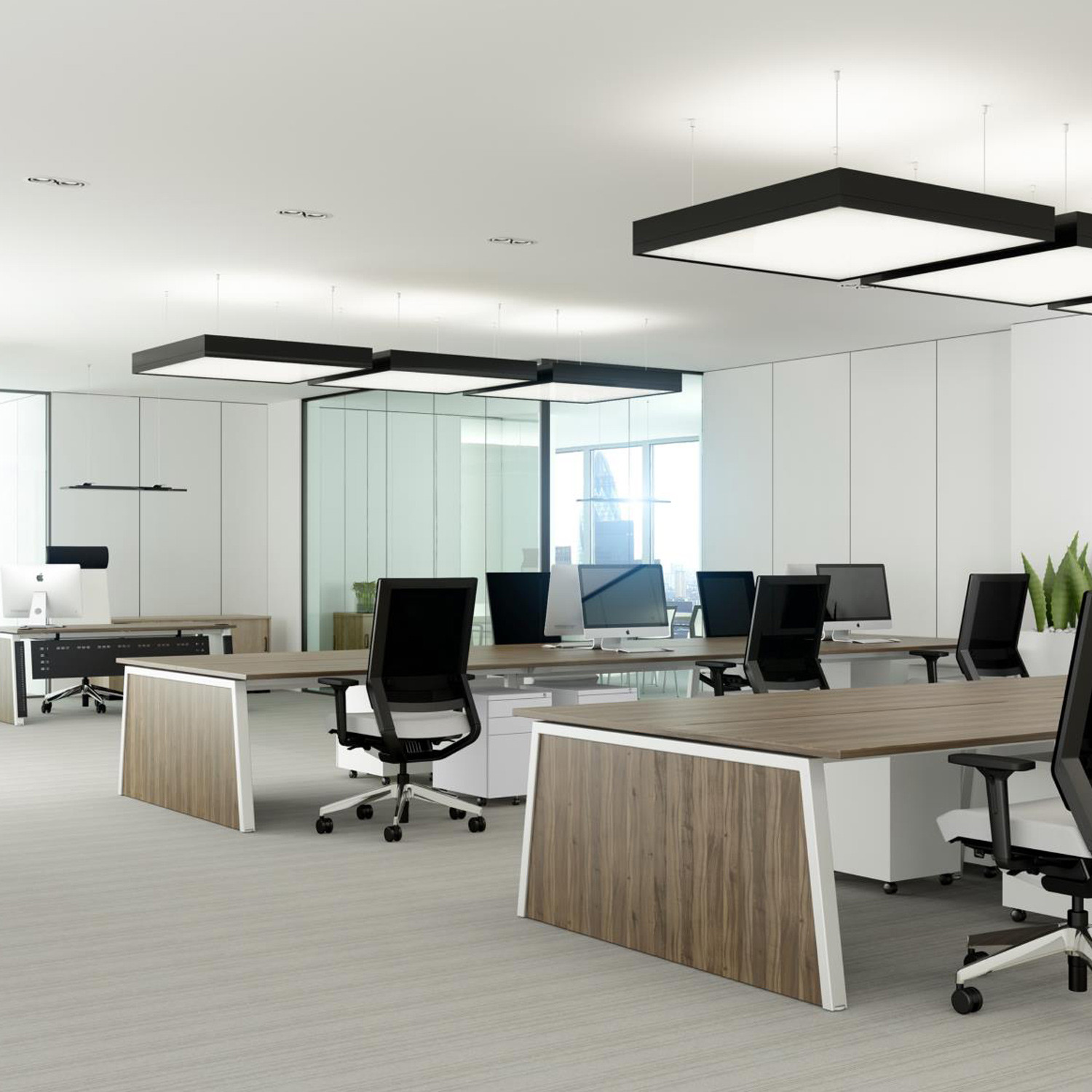 Linnea Office Desking With Infill Panel