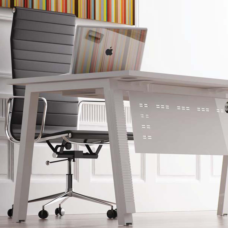 Elite Linnea Office Desk with modesty panel