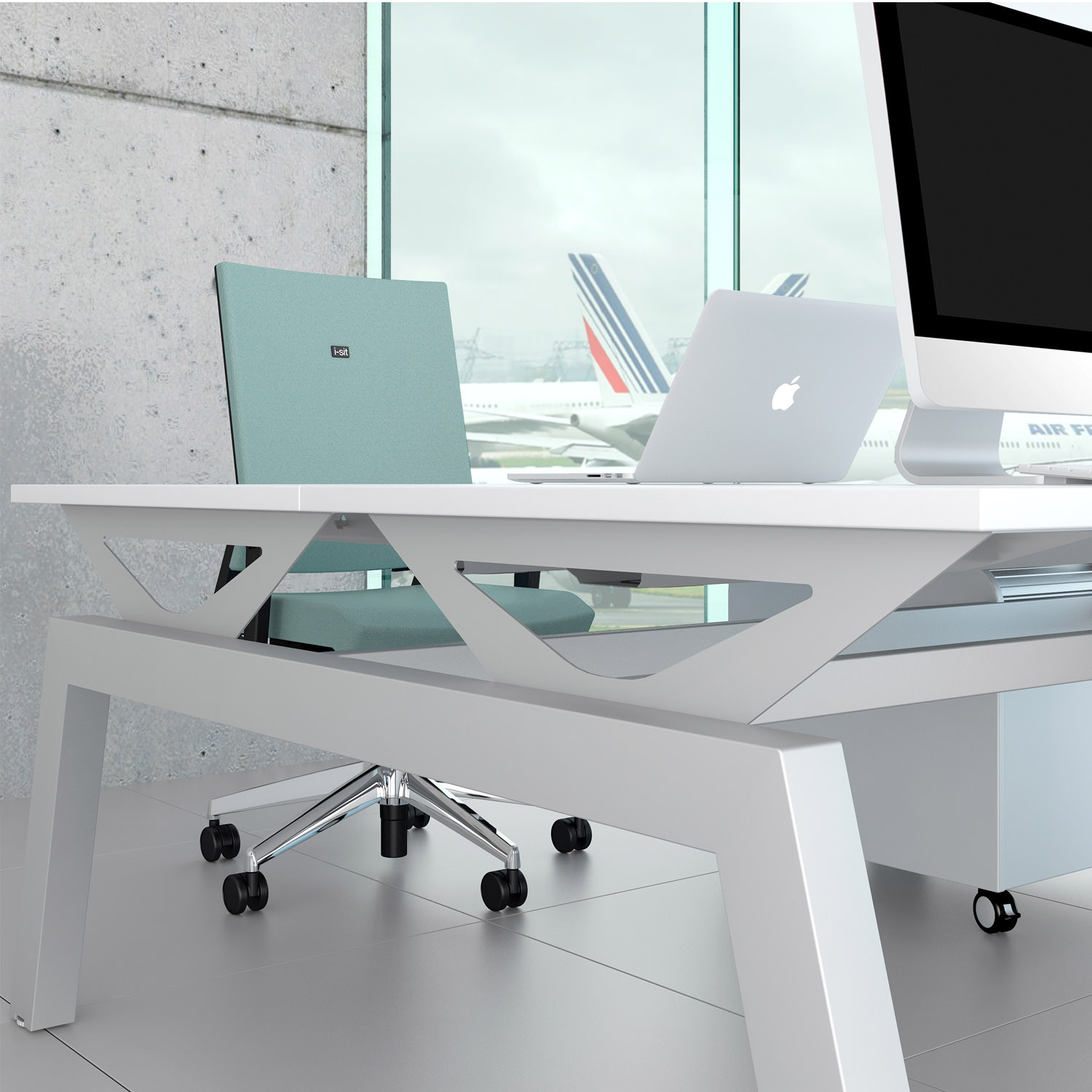 Elite Linnea Bench Desk Detail