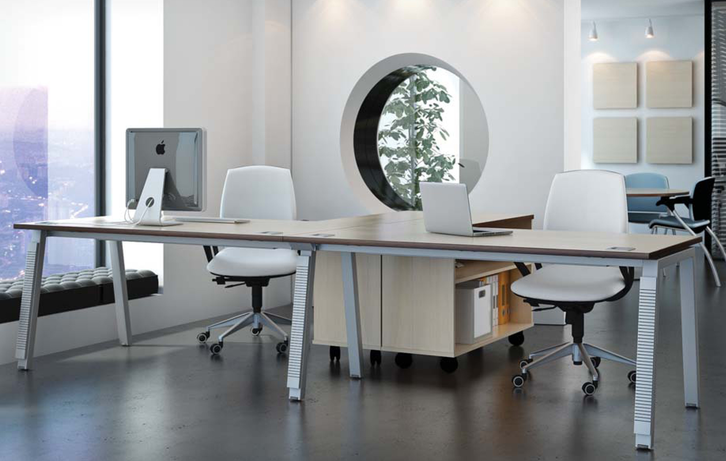 Elite Linnea Single Bench Desks