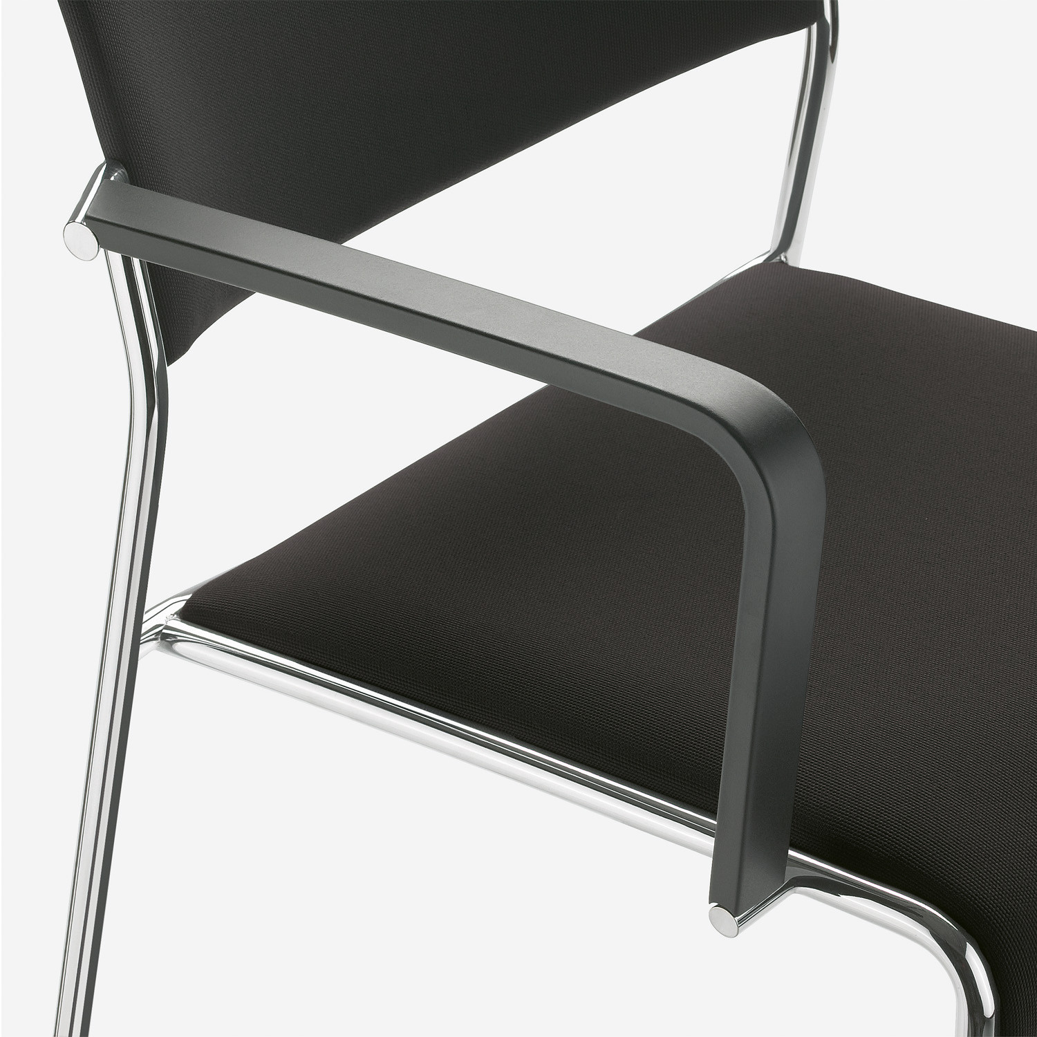 Linos Chair with ergonomic armrests made from hygienic plastic