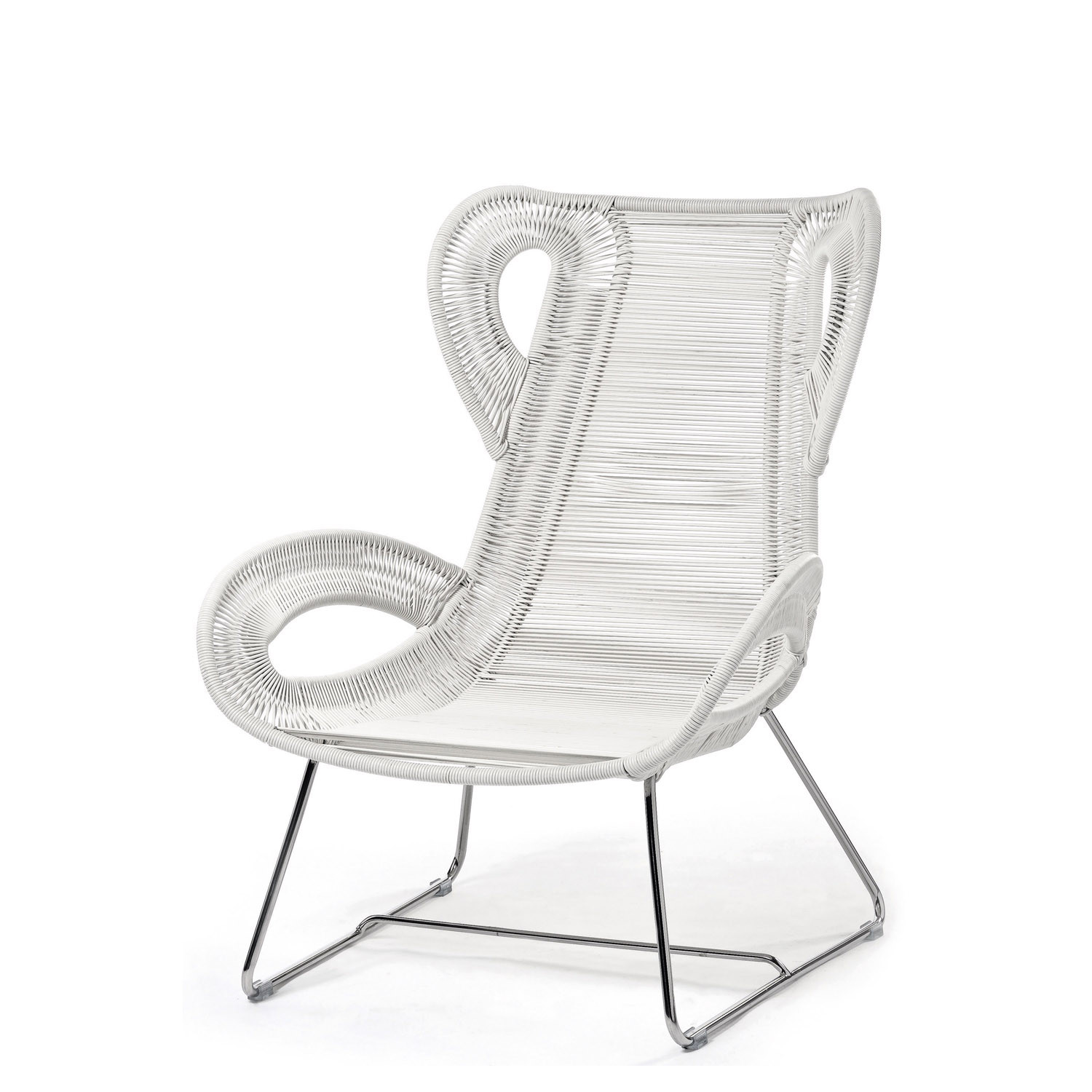 Coates Loop Bergere Chair in White Acrylic