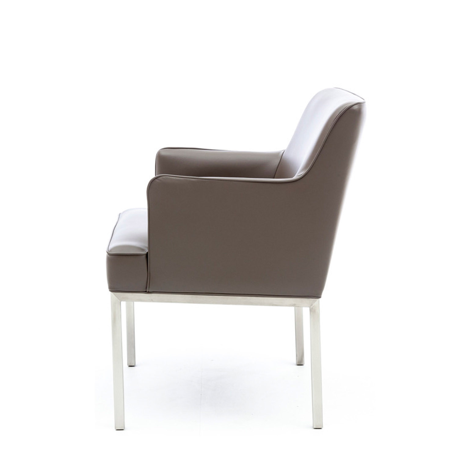 ... Louise Leather Reception Armchair ...