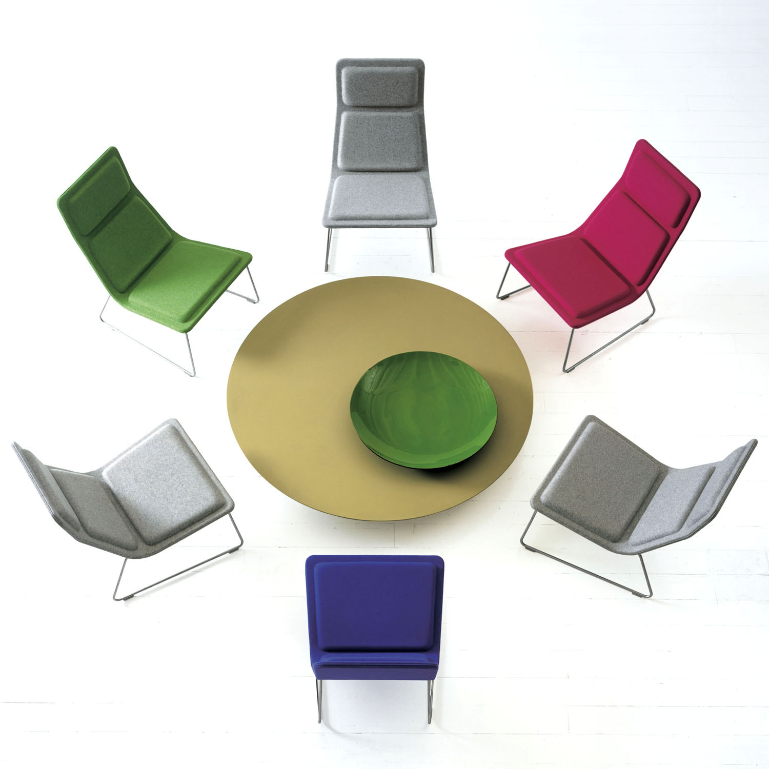 Low Pad Armchairs - Colourful