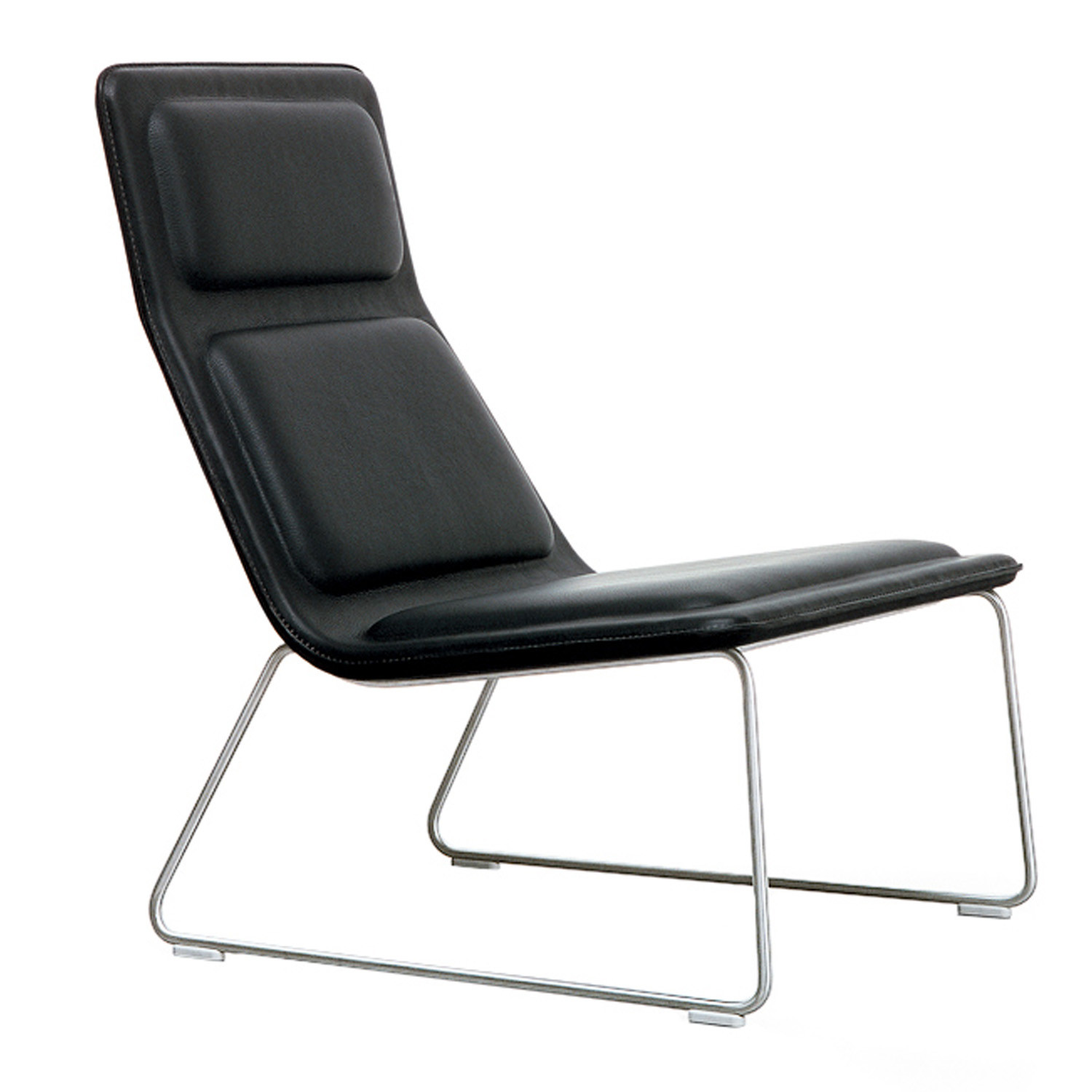 Low Pad Armchair in Black