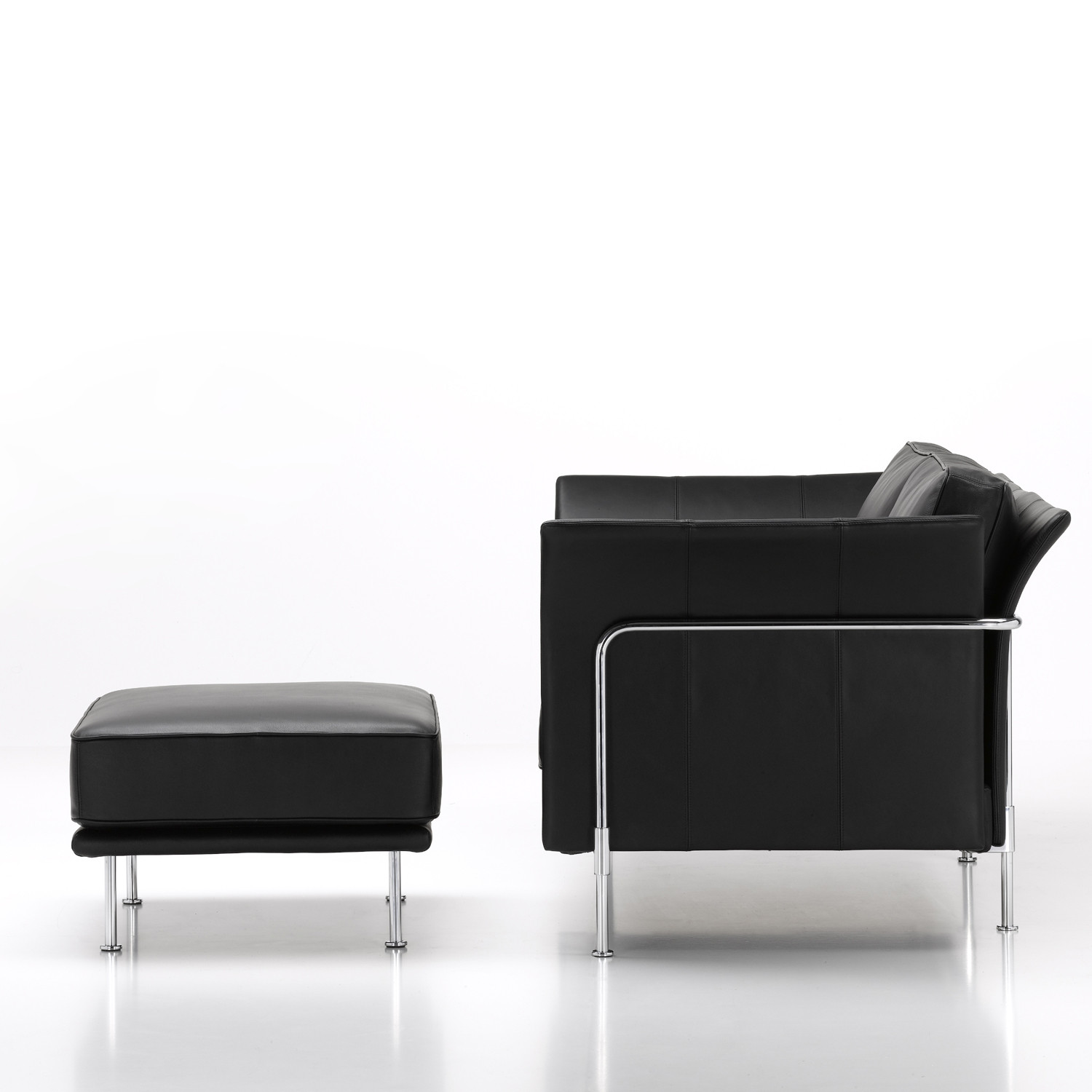 Soft Shell Sofa and Ottoman