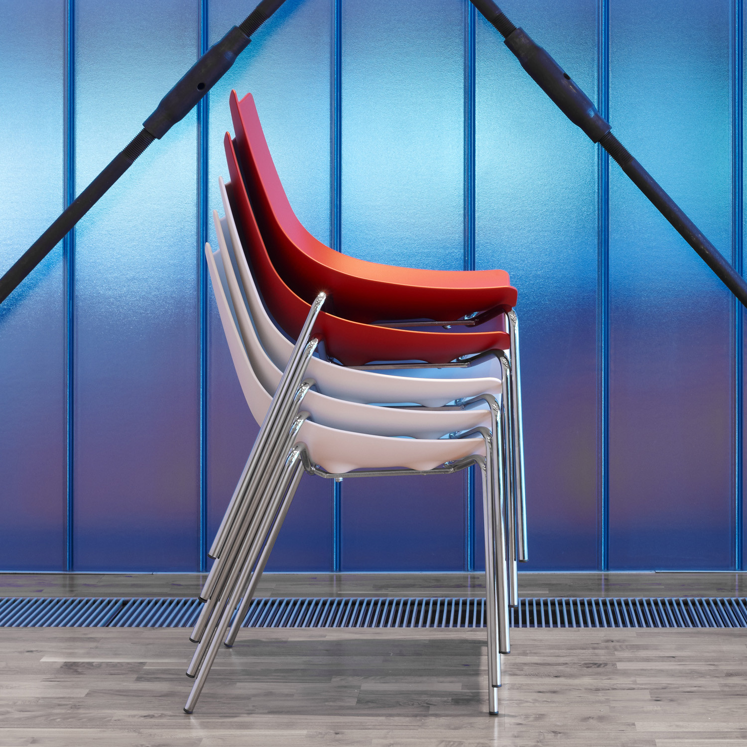 Luc Metal Stackable Chairs