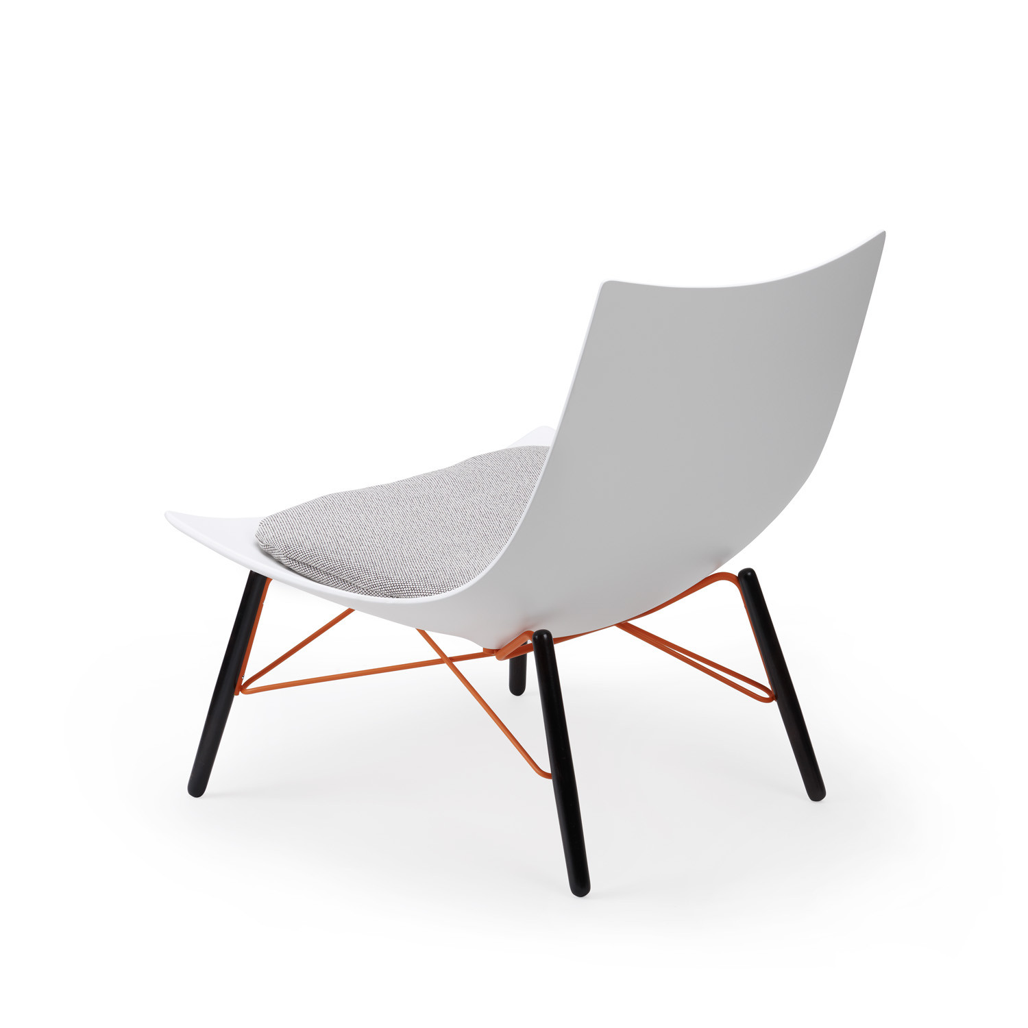 Luc Lounge Chair with cushion back detail