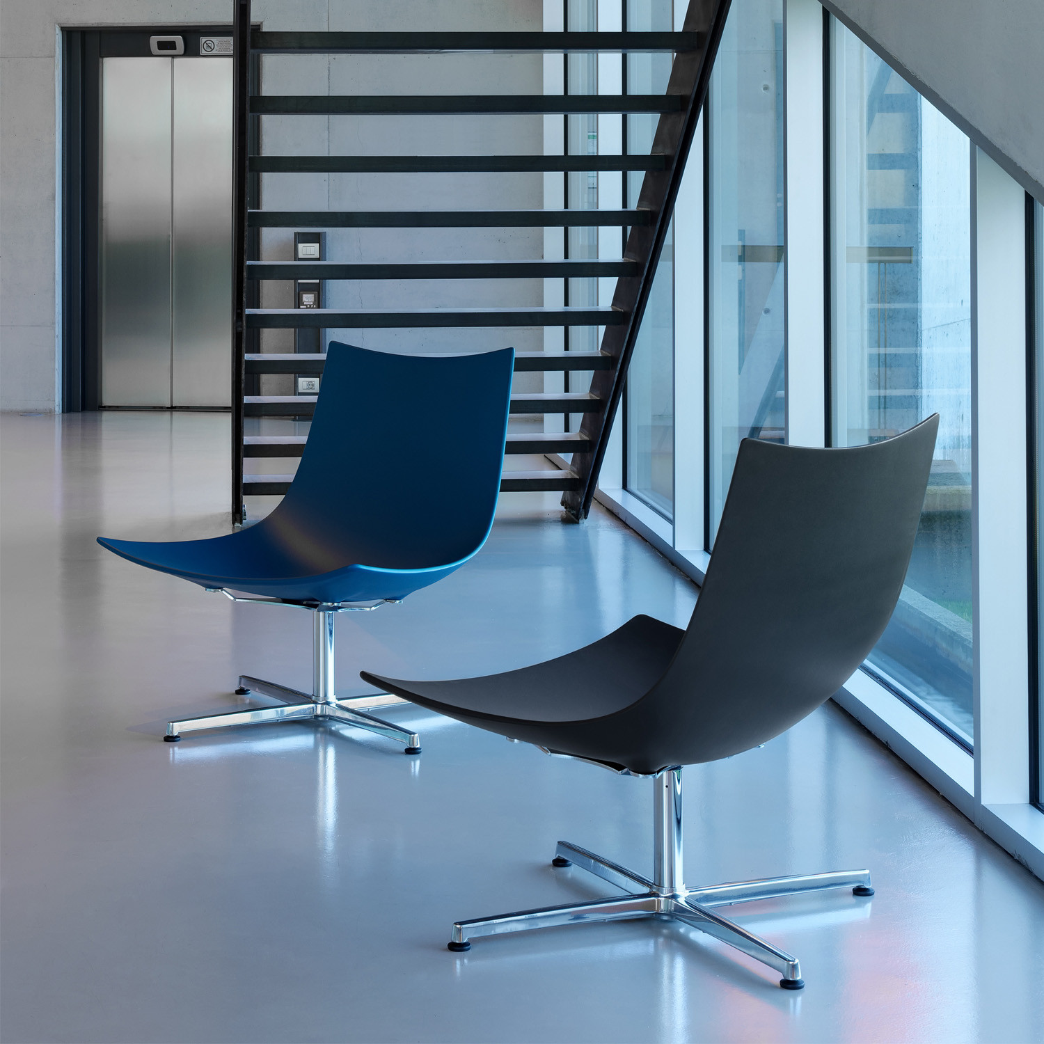 Luc Lounge Chairs by Rossin