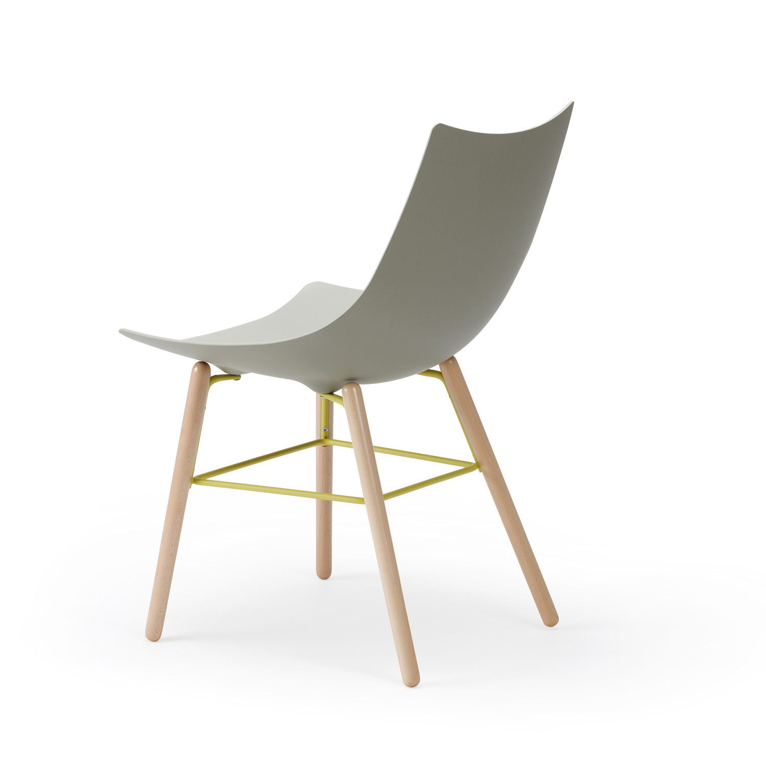 Luc Wooden Chair by Rossin