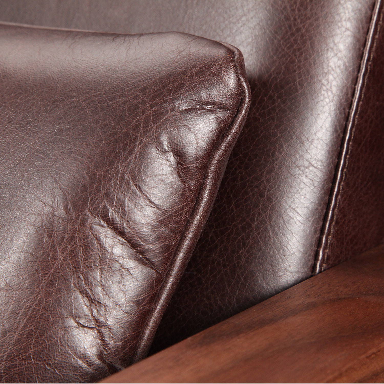 Luge Leather Sofa Detail by Lyndon Design