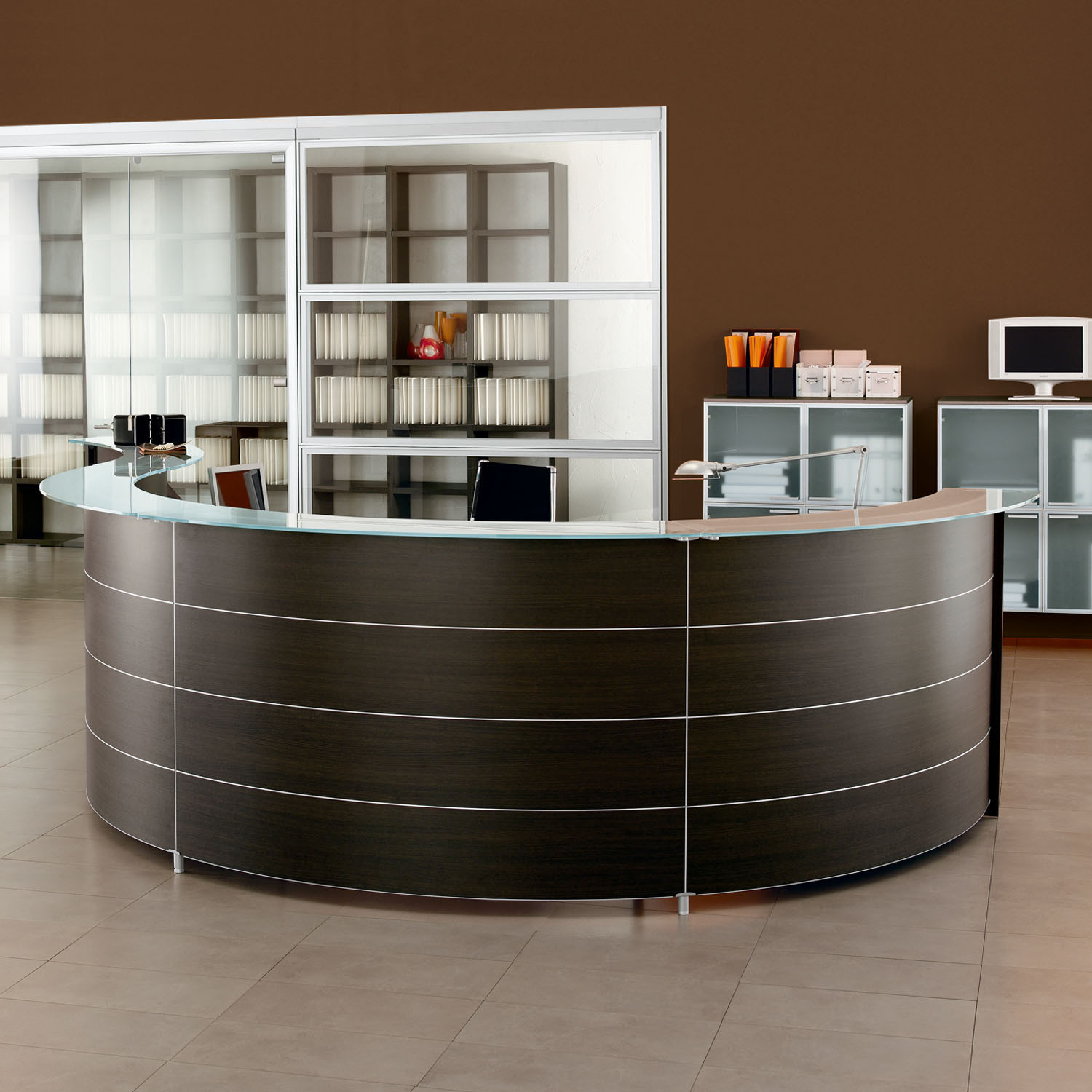 Luna Modular Reception Desks from Sinetica
