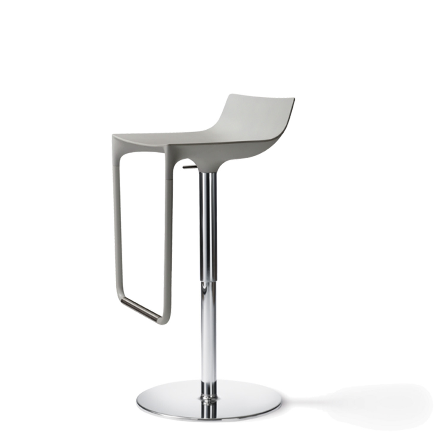 Macay Grey Metal Bar Stool
