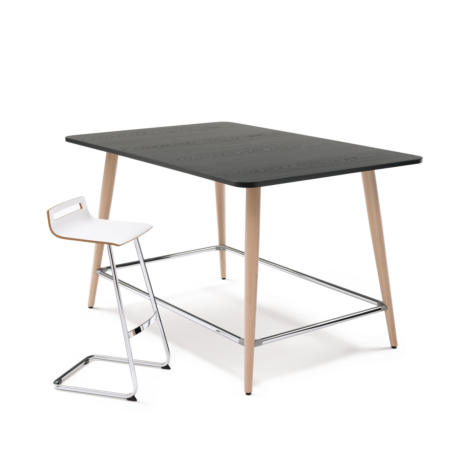 en high serie by casters desks stehtisch system previousnext on desk k individual tables