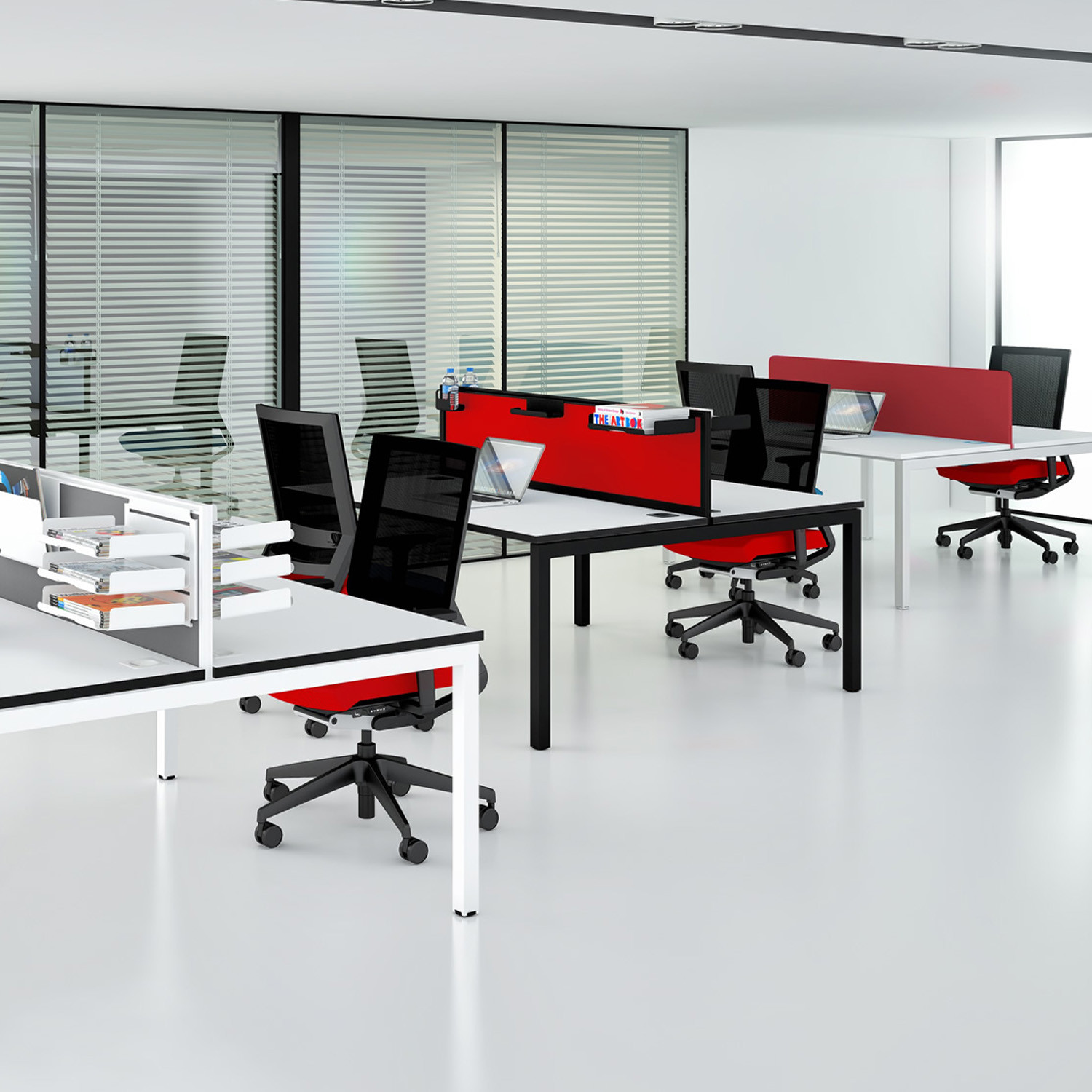 Matrix Double Bench Desks