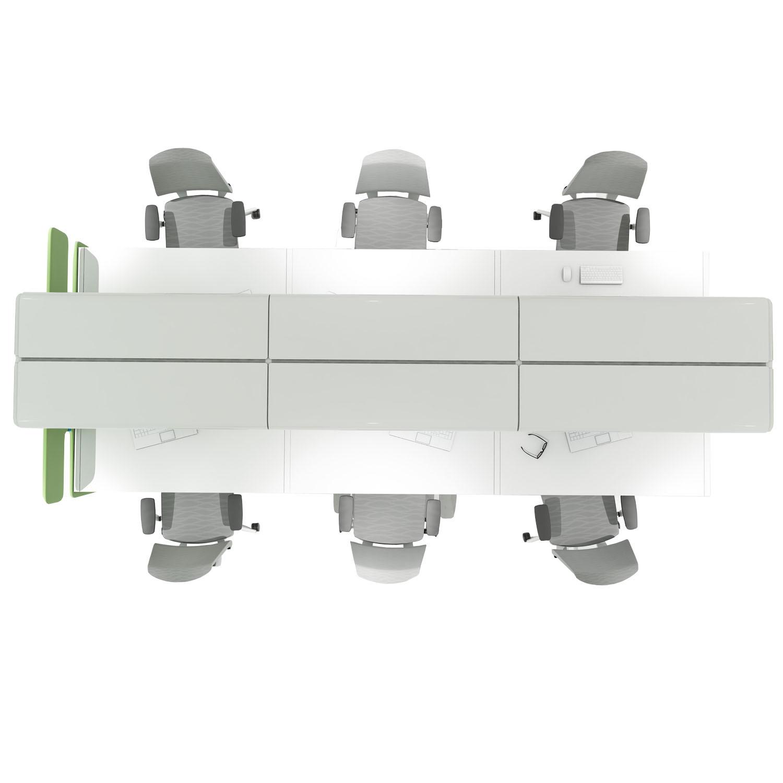 Futuro Bench Desking by Mikomax