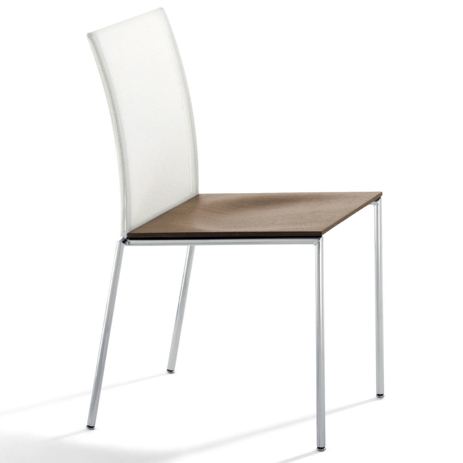 MilanoFlair Chair, mesh backrest with wooden seat