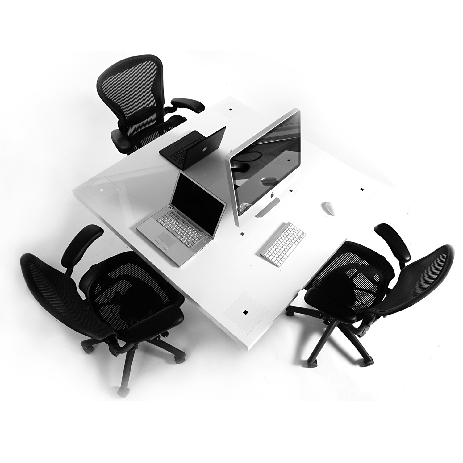 Milk Office Desks by Holmris