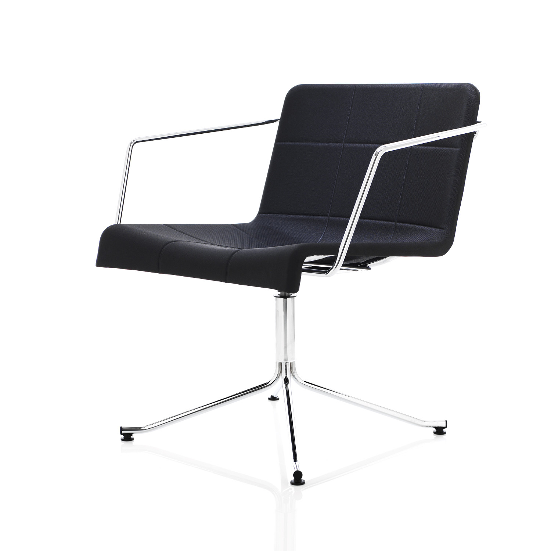 Millibar Lounge Chair on four-star base