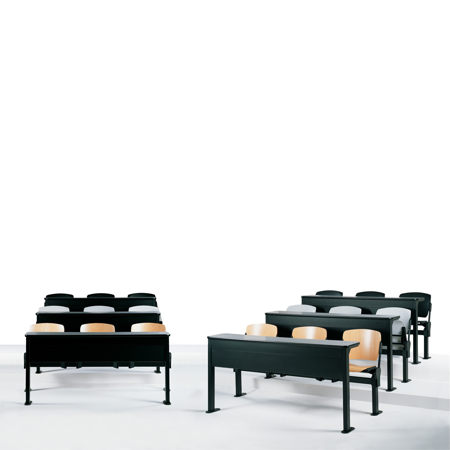 Mimi Tandem Seating integrated with space-saving desks